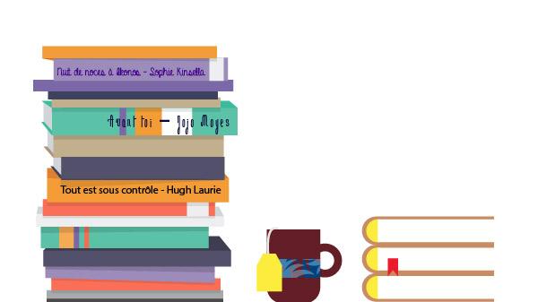 pile de livres vector