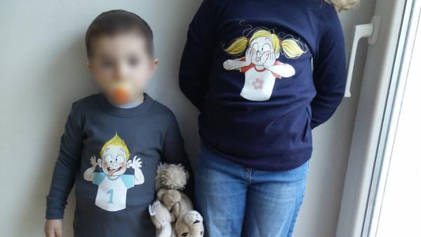t-shirts assortis frère et soeur