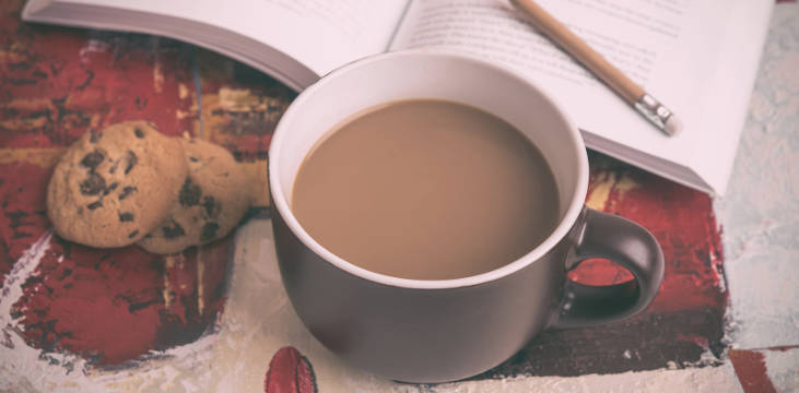 cofee and book