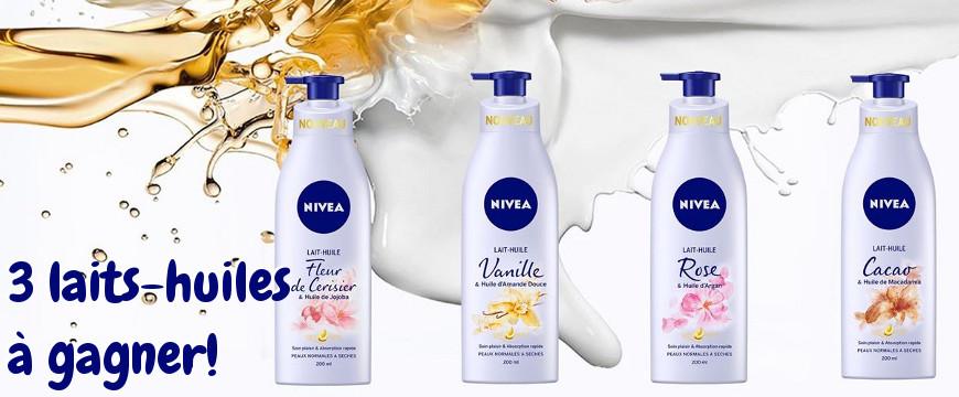 laits-huiles pour le corps de Nivea