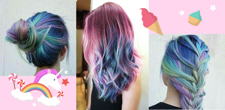 cheveux de licorne