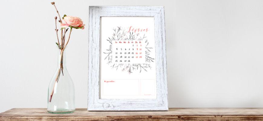 calendrier de février 2019