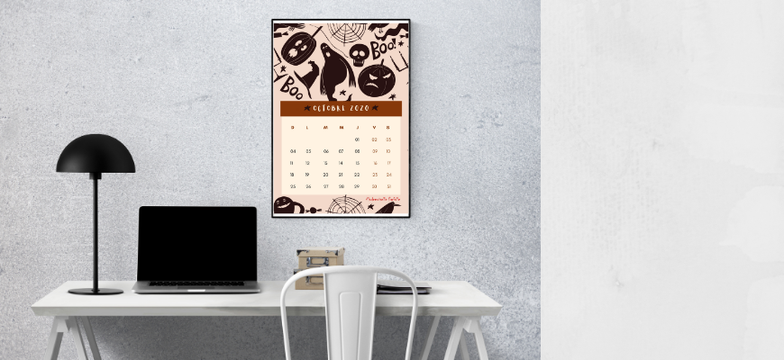 calendrier d'octobre 2020 à imprimer